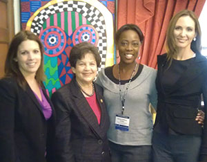(l-r: Gineen Bresso, The Wasie Foundation; Congresswoman Lois Frankel; Upendo Shabazz-Phillips, Allegany Franciscan Ministries; Rebecca Nicholson, The Wasie Foundation)