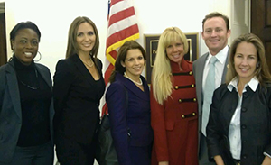 (l-r: Upendo Shabazz-Phillips, Allegany Franciscan Ministries; Rebecca Nicholson, Gineen Bresso and Jen Klaassens of The Wasie Foundation; Congressman Patrick Murphy; Bridget Baratta, Martin County Community Foundation)