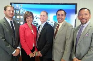 A recent FPN program spotlighted three case studies of grantmakers who are trying new strategies to engage communities in grant decisions. L-R: Presenter Stuart Kennedy, Program Officer, The Miami Foundation; Presenter Andrea Bradley, President & CEO, Palm Healthcare Foundation; David Biemesderfer, FPN President & CEO; Presenter Steve Marcus, President & CEO, Health Foundation of South Florida; Moderator Miguel Milanes, Regional Vice President-Miami-Dade Region, Allegany Franciscan Ministries.