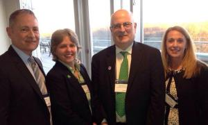 FPN President & CEO David Biemesderfer (l) was one of the speakers for the kick-off of the 2015 Foundations on the Hill Event, along with (l-r) Sherry Magill, President of the Jessie Ball duPont Fund and a founder of FPN; Adam Meyerson, President of the Philanthropy Roundtable; and Sue Santa, Senior Vice President for Public Policy and Legal Affairs at the Council on Foundations