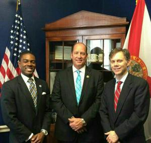 The Florida Blue Foundation's Tom Giles (r) and FPN's Christopher Johnson (l) met with Congressman Ted Yoho during FPN's 2015 Foundations on the Hill visits.